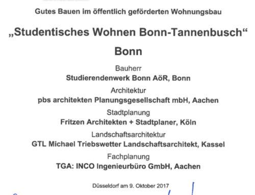 NRW Landespreis Gutes Bauen im öffentlich geförderten Wohnungsbau