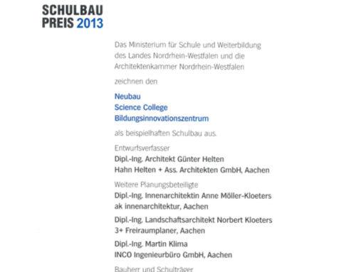 Schulbaupreis NRW